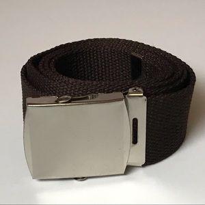 BNIB - Adjustable Brown Canvas Belt